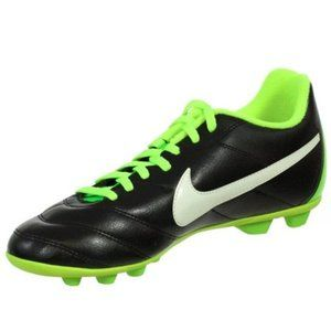 Youth Soccer Cleats 4.5Y Black/Green